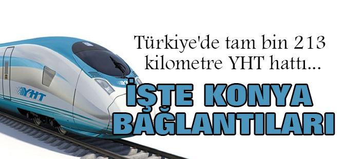 Türkiye'de bin 213 kilometre YHT hattı: İşte Konya bağlantıları