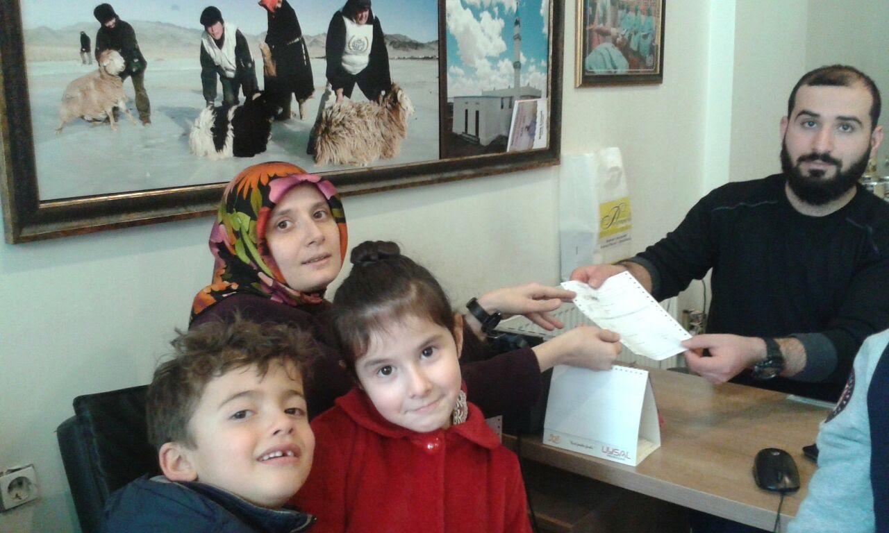 İhsan Özkaşıkçı öğrencilerinden Halep'e yardım