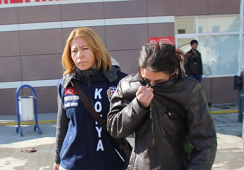 Konya'da kartvizit çetesine suçüstü