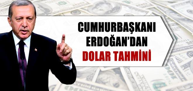 Cumhurbaşkanı Erdoğan'dan dolar tahmini