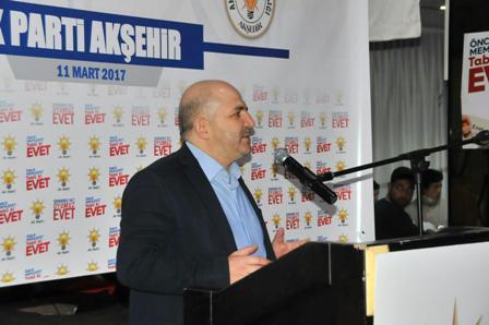 Baloğlu Akşehir'de konuştu