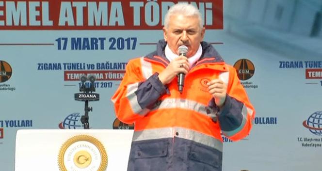 Başbakan Yıldırım'dan Gümüşhane'de işçilere ikramiye müjdesi
