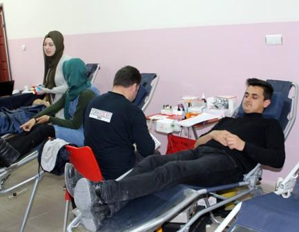 NEÜ'de kan bağışı kampanyasına yoğun ilgi