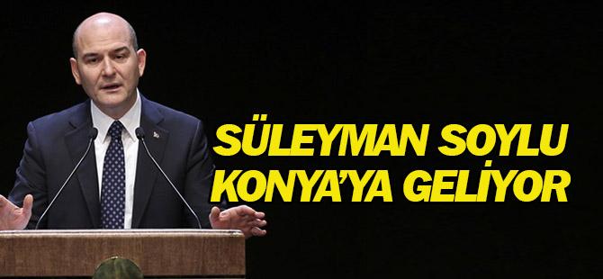 Bakan Soylu Konya'ya geliyor