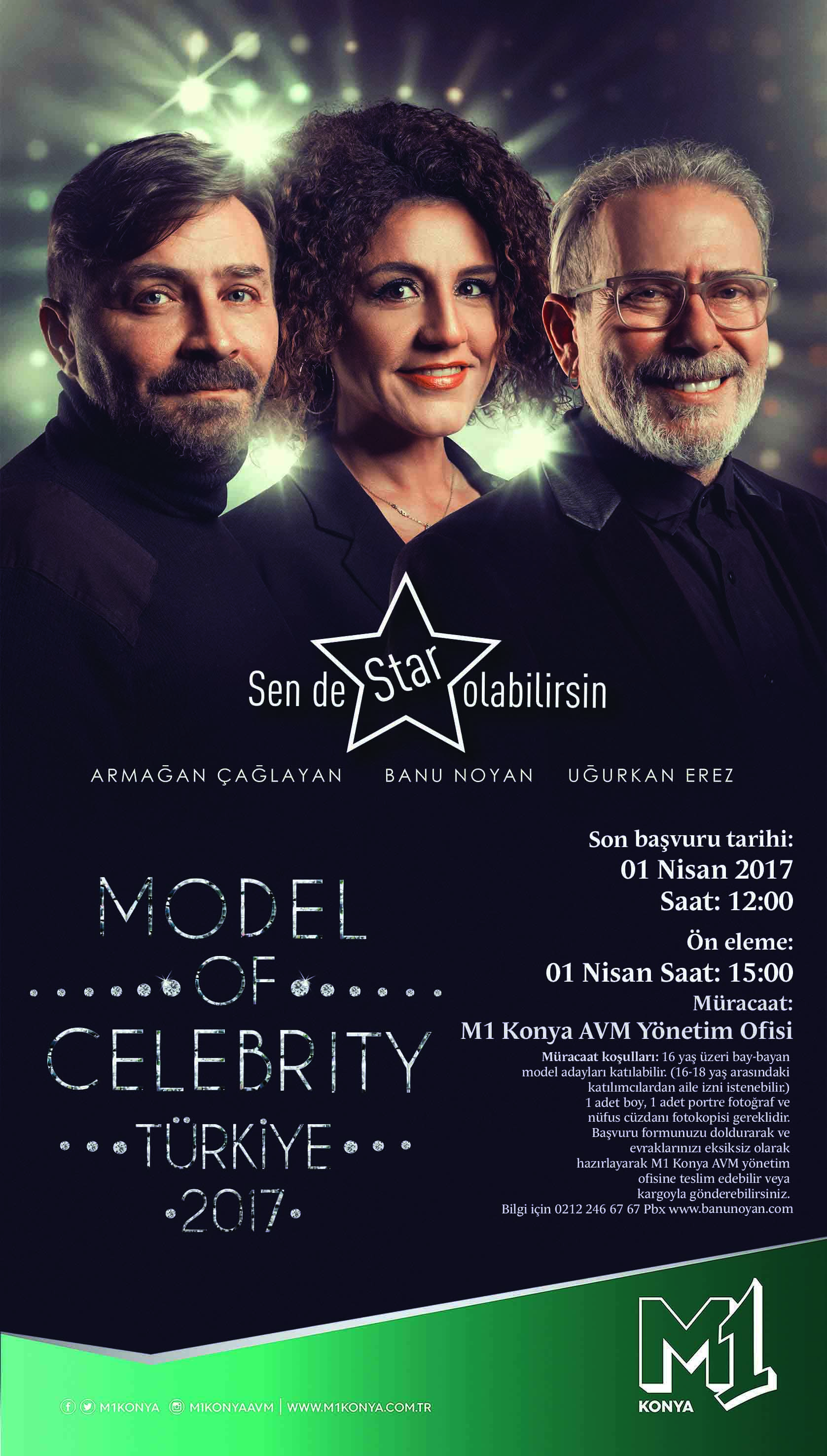 Model Of Celebrıty 1 Nisan'da M1 Konya'da