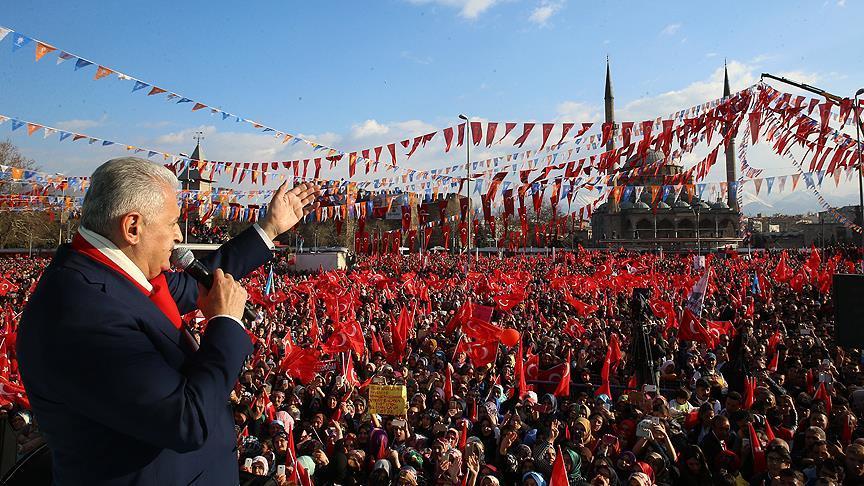 Başbakan  Yıldırım Kayseri'de konuştu