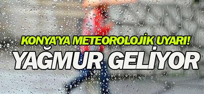 Konya'ya Meteorolojik Uyarı: Yağmur geliyor