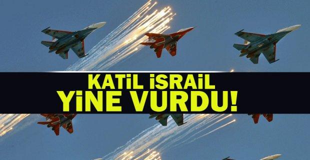 İsrail ordusu, Suriye vurdu