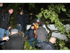 Zonguldak'ta cenaze dönüşündeki kaza