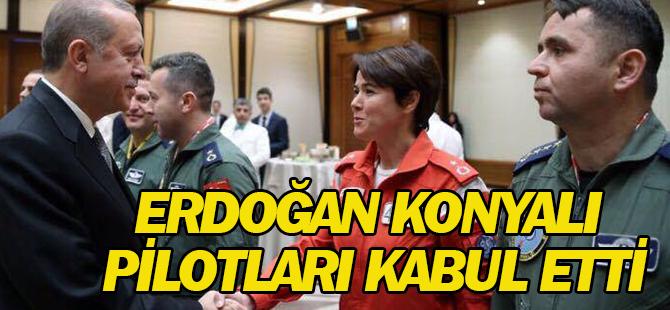 Cumhurbaşkanı Erdoğan Konyalı pilotları kabul etti