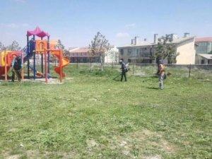 Baharın gelmesiyle park ve bahçeler hareketlendi