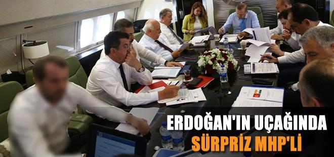 Cumhurbaşkanı Erdoğan'ın uçağında sürpriz MHP'li