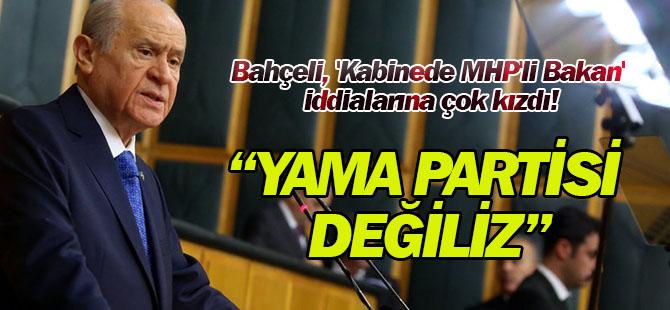 Bahçeli, 'Kabinede MHP'li Bakan' İddiasıyla İlgili İlk Kez Konuştu: Yama Partisi Değiliz
