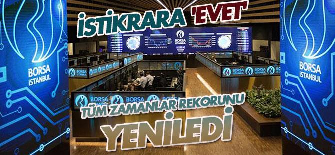 Borsa İstanbul, tüm zamanlar rekorunu yeniledi