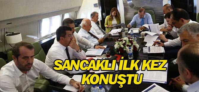 Erdoğan'ın uçağına binen MHP'li Saffet Sancaklı ilk kez konuştu