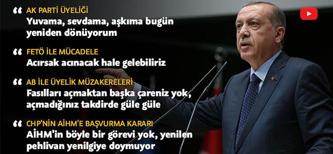 Erdoğan'ın AK Parti'ye dönüş konuşması