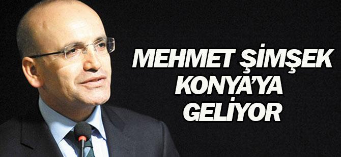 Mehmet Şimşek ve Faruk Özlü Konya'ya geliyor