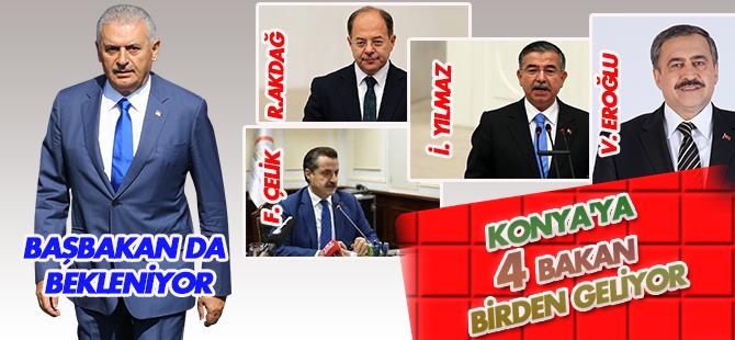 Konya 4 bakanı ağırlayacak