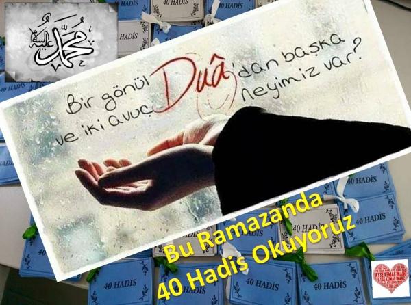 Öğrencilerden Ramazan'da 40 hadi okuyoruz kampanyası