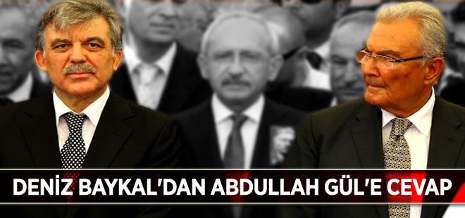 Deniz Baykal'dan Abdullah Gül'e cevap