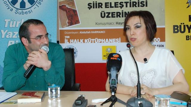 """TYB Konya Şubesi'nde ''Şiir Eleştirisi Üzerine """"söyleşi yapıldı"""