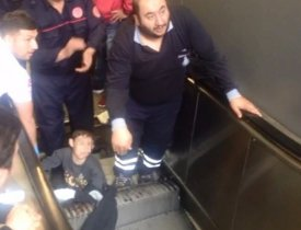 Metro istasyonunda feci kaza!