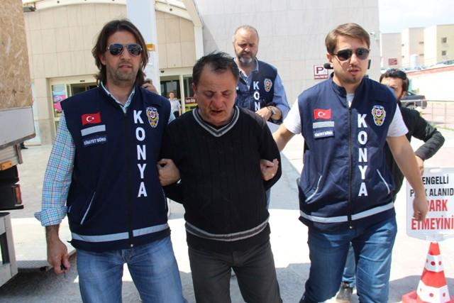 Konya'da emekli polis memurunun öldürülmesi