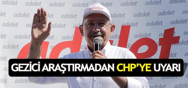 Gezici Araştırma Şirketinden CHP'ye uyarı