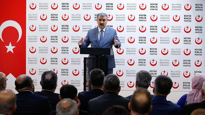 BBP Genel Başkanı Destici'den İİT'ye kınama