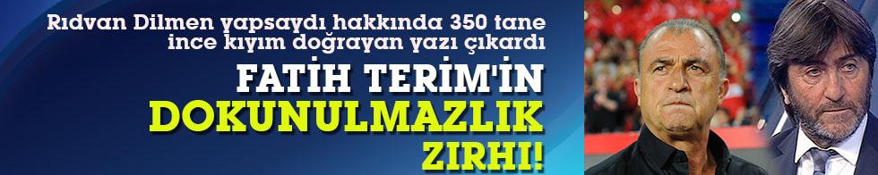 Fatih Terim'in dokunulmazlık zırhı!