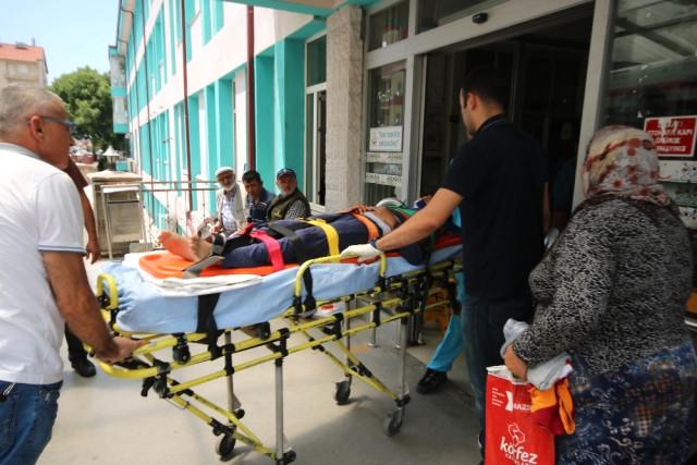 Damdan Düşen Çocuk Hastanelik Oldu