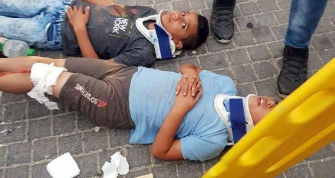 İsrailli yerleşimci, 4 Filistinli çocuğa çarpıp kaçtı