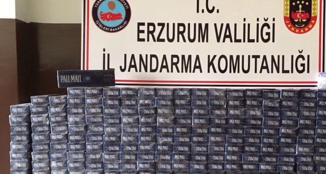 Otobüsün tavanına gizlenen 5 bin 180 paket kaçak sigara ele geçirildi