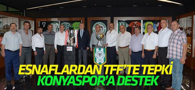 Esnaflardan TFF'ye tepki,  Konyaspor'a desek