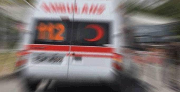 Beton zemin üzerine düşen çocuk yaralandı