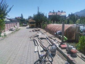 Seydişehir Belediyesi kaldırım çalışmalarına devam ediyor