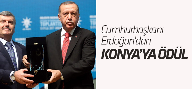 Cumhurbaşkanı Erdoğan'dan Konya Büyükşehir'e Ödül