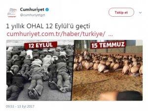 Cumhuriyet FETÖ'cülerle sivilleri bir tuttu