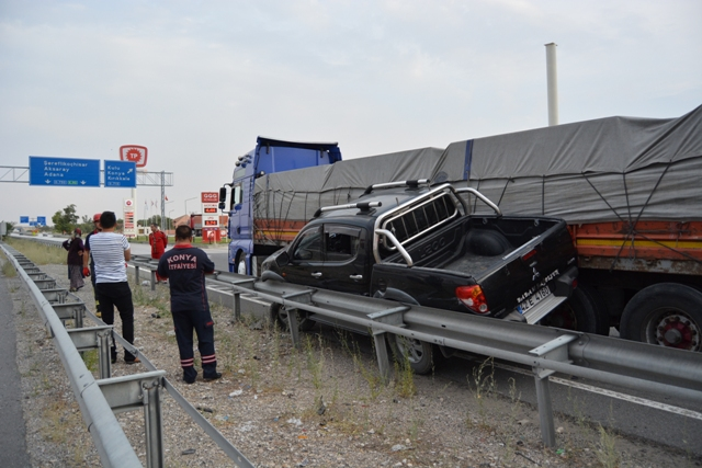 Konya'da trafik kazası: 2 yaralı