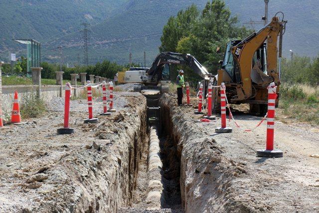 Dokuz Ayda 19 ilçeye 227,5 KM kanalizasyon şebekesi