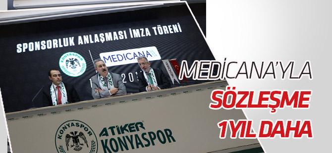 Medicana ile Atiker Konyaspor sağlık sponsorluğu anlaşmasını 1 yıl uzattı