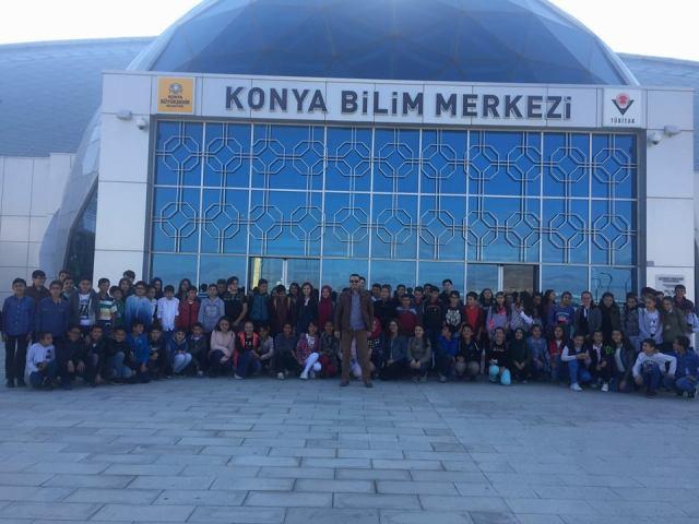 Karapınarlı öğrencilerden bilim merkezine ziyaret