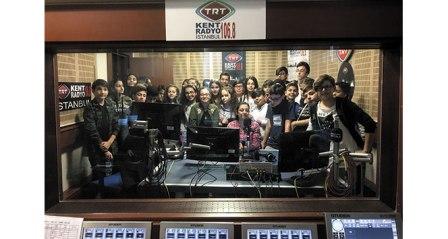 Yerinde eğitim için öğrenciler TRT'de