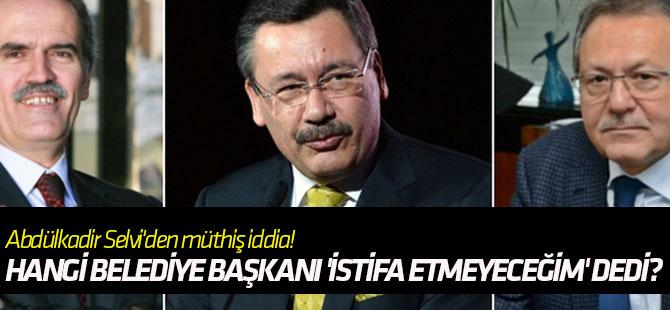 Hangi belediye başkanı Başbakan Yıldırım'a 'istifa etmeyeceğim' dedi?