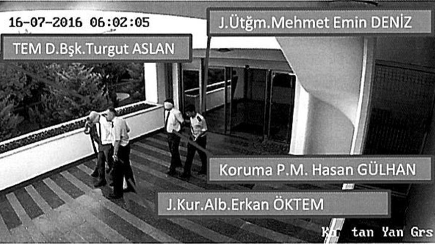 Turgut Aslan'ın alıkonulduğu anlara ait fotoğraflar dava dosyasında