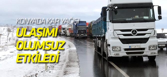 Konya'da Kar Yağışı Kazaları Beraberinde Getirdi