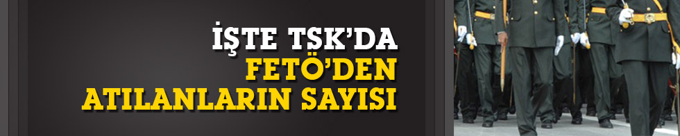 TSK'dan FETÖ'den ihraç edilenlerin sayısı