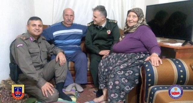 İl Jandarma Komutanı Acara'dan Kore Gazisine ziyaret