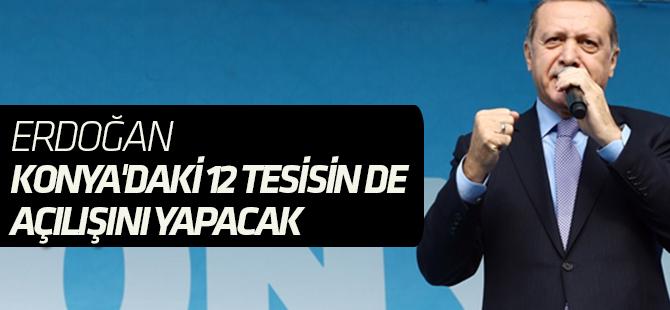 Erdoğan Konya'da yapılan eserlerin açılışı yapacak
