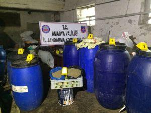 Amasya'da 5 ton sahte içki ele geçirildi